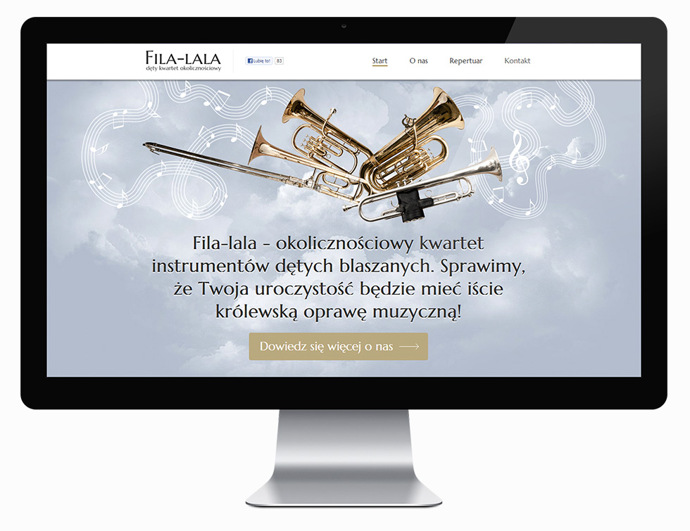 Strona internetowa dętego zespołu okolicznościowego Fila-lala