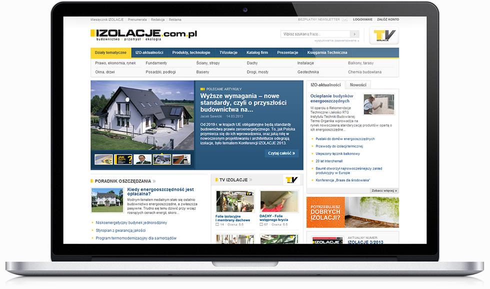 Portal internetowy miesięcznika budowlanego Izolacje.