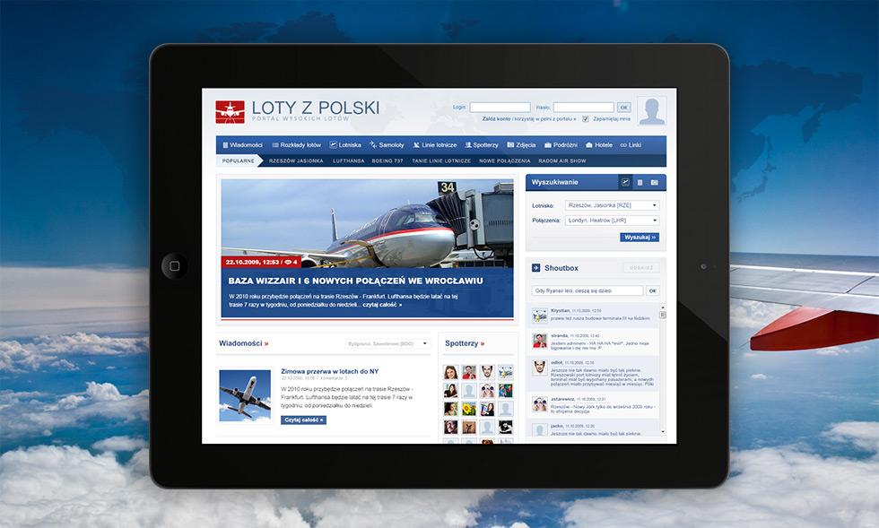 Loty z Polski - portal internetowy dla spotterów i miłośników lotnictwa