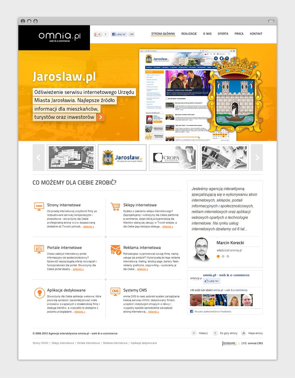 Strona internetowa agencji interaktywnej omnia.pl - strona główna.