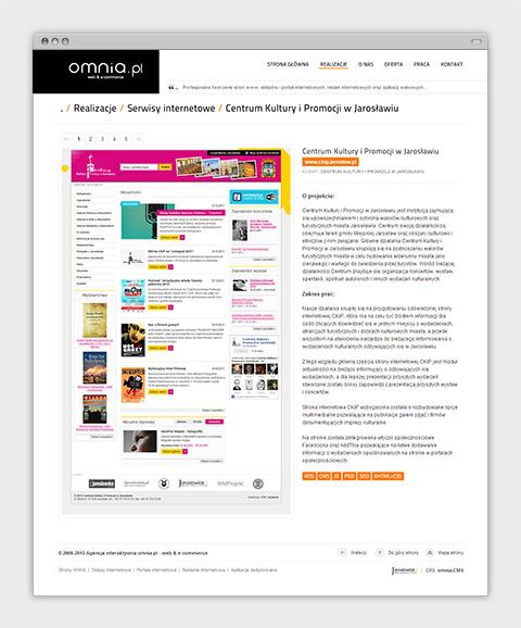 Strona internetowa agencji interaktywnej omnia.pl - opis realizacji.