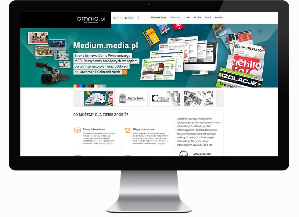 Strona internetowa agencji interaktywnej omnia.pl.