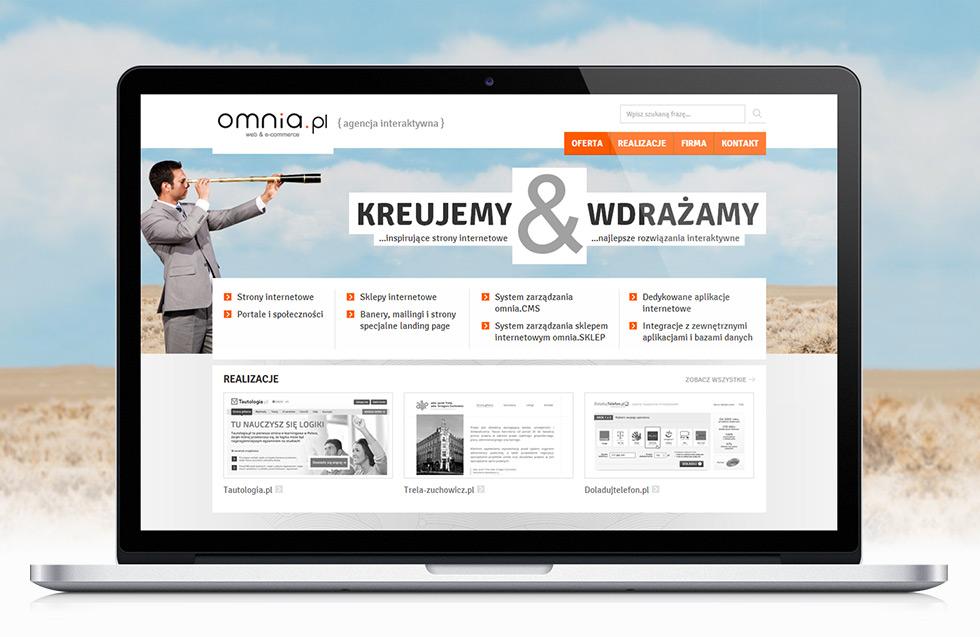 Odświeżenie strony internetowej agencji interaktywnej omnia.pl.