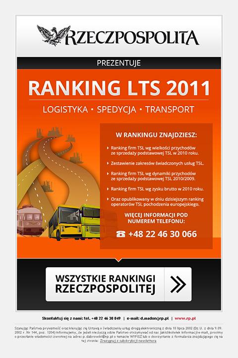 """Rzeczpospolita - Mailing """"Ranking LTS 2011""""."""