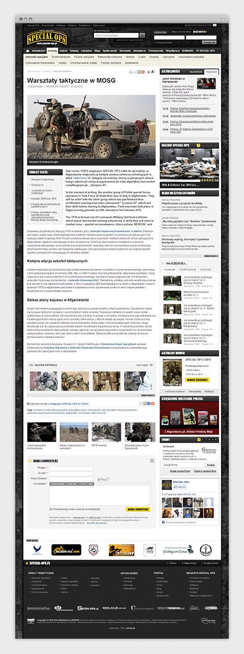 Special Ops - Portal Ludzi Akcji. Artykuł.