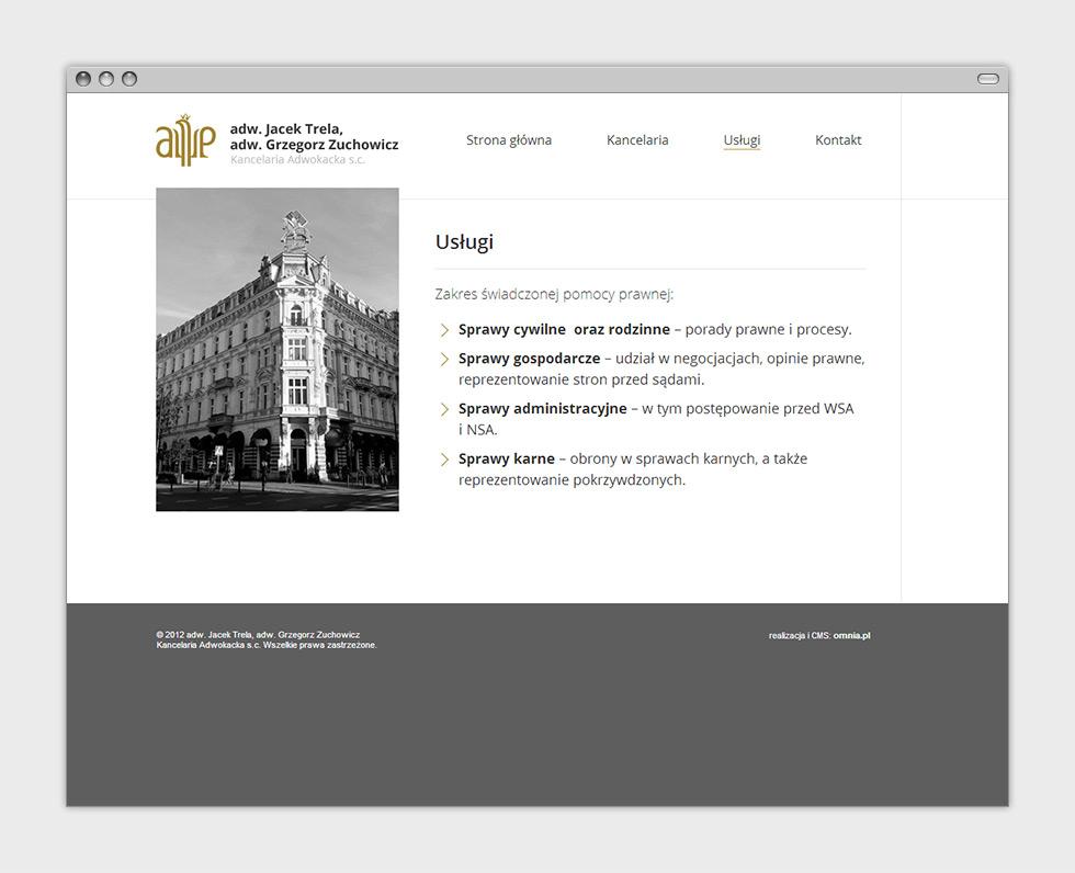 Adw. Jacek Trela, adw. Grzegorz Zuchowicz. Kancelaria Adwokacka s.c. - strona internetowa. Podstrona.