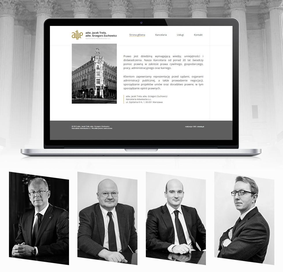 Adw. Jacek Trela, adw. Grzegorz Zuchowicz. Kancelaria Adwokacka s.c. - strona internetowa.