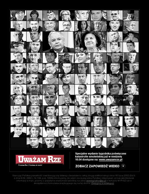 Uważam Rze - Mailing promujący wydanie specjalne poświęcone katastrofie smoleńskiej.