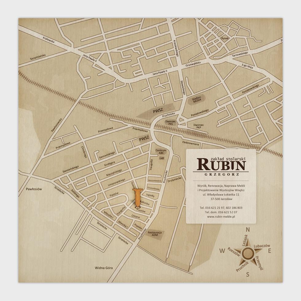 Strona internetowa zakładu stolarskiego Grzegorza Rubina - mapa dojazdu