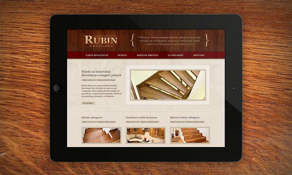 Strona internetowa zakładu stolarskiego Grzegorza Rubina